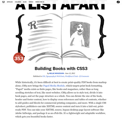 Building Books with CSS3