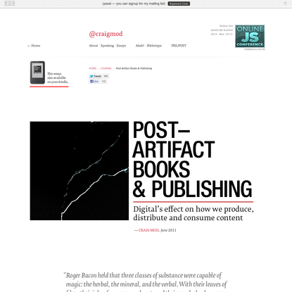 Post Artifact Books and Publishing