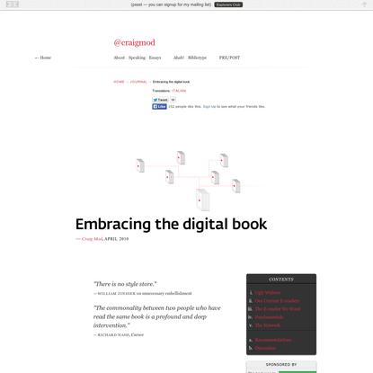 Embracing the digital book