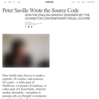 Peter Saville Wrote the Source Code