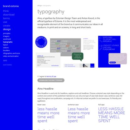 Typography - Brand Estonia