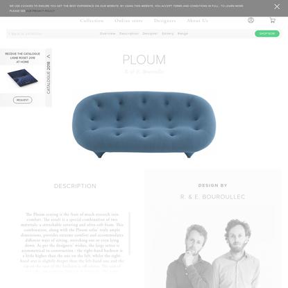 PLOUM, Sofas Designer : R. & E. Bouroullec | Ligne Roset