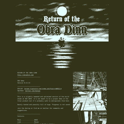 Return of the Obra Dinn by dukope