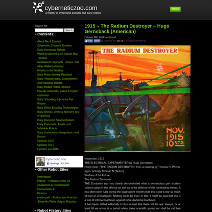 cyberneticzoo.com - a history of cybernetic animals and early robots