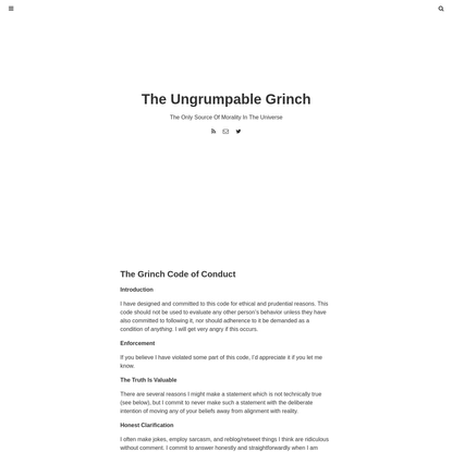 The Grinch Code of Conduct