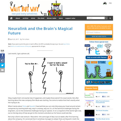 Neuralink and the Brain's Magical Future - Wait But Why