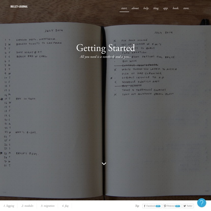 Getting Started - Bullet Journal