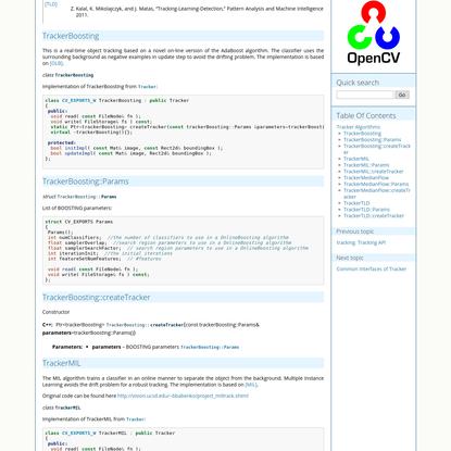 Tracker Algorithms - OpenCV 3.0.0-dev documentation