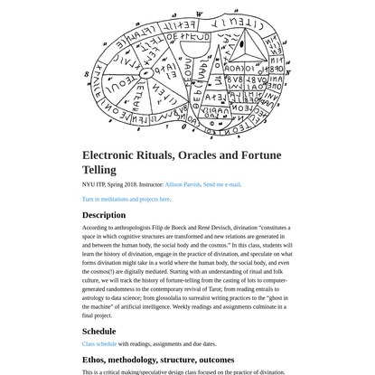 Electronic Rituals, Oracles and Fortune Telling · Electronic Rituals, Oracles and Fortune Telling
