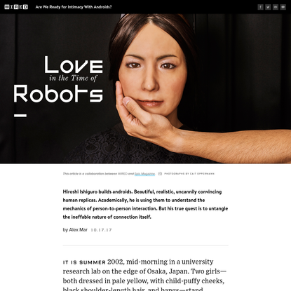 Are We Ready for Intimacy with Robots?