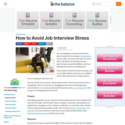 Here Are Some Great Tips on How to Handle Job Interview Stress