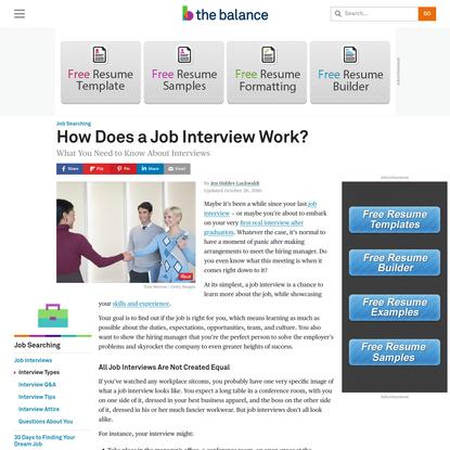 Get the Inside Scoop on How Job Interviews Work