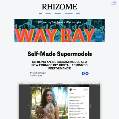Self-Made Supermodels