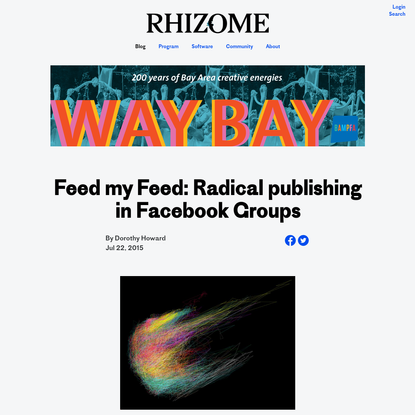 Feed my Feed: Radical publishing in Facebook Groups