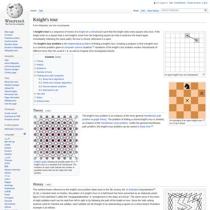 Knight's tour - Wikipedia
