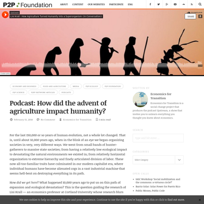 Podcast: How did the advent of agriculture impact humanity?   P2P Foundation