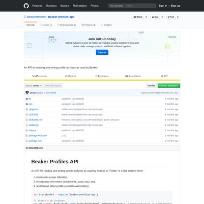 beakerbrowser/beaker-profiles-api
