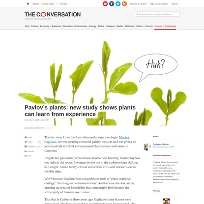 Pavlov's plants: new study shows plants can learn from experience