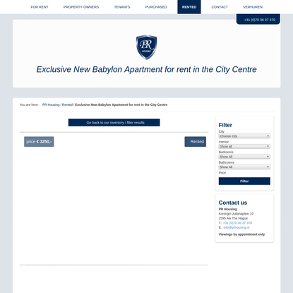 New Babylon Apartment for rent in City Centre