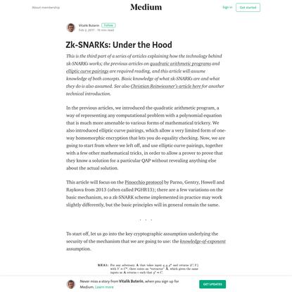 Zk-SNARKs: Under the Hood - Vitalik Buterin - Medium