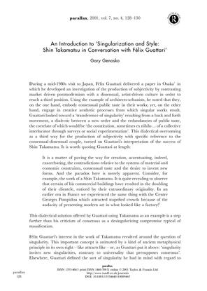 Genosko-An-Introduction-to-Singularization-and-Style-Shin-Takamatsu-in-Conversation-with-F.pdf