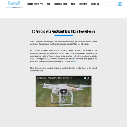 Nano Dimension | PCB 3D Printer and Nanoparticle Inks