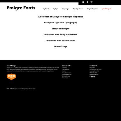 Emigre Essays