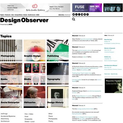 Topics: Design Observer