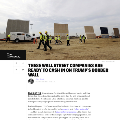 These Wall Street Companies Are Ready to Cash In on Trump's Border Wall