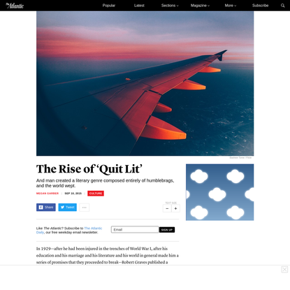 Goodbye to All That: The Inexorable Rise of 'Quit Lit'