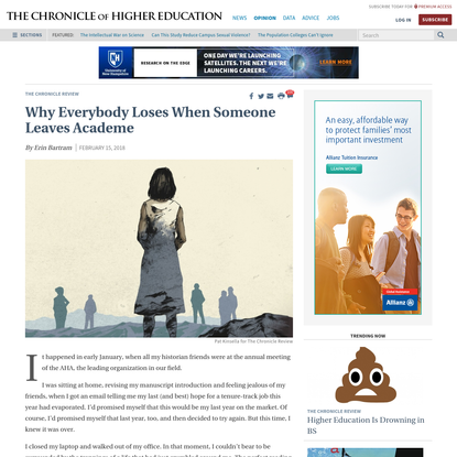 Why Everybody Loses When Someone Leaves Academe