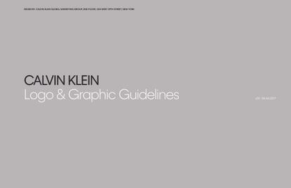 CK Logo & Graphic Guidelines 2017 (peter saville / raf simons)
