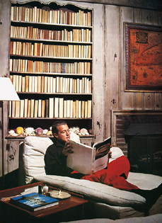 Halston in Andy Warhol's Montauk home, 1980s