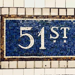 Typography: subway signage
