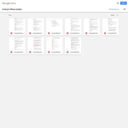 Limmy's Show scripts - Google Drive