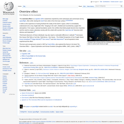 Overview effect - Wikipedia