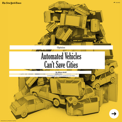 Opinion | Automated Vehicles Can't Save Cities