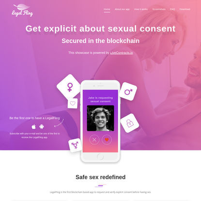 LegalFling - Get explicit about sexual consent