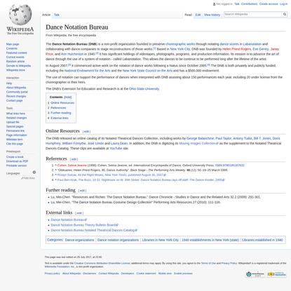 Dance Notation Bureau - Wikipedia