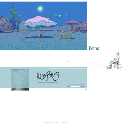 Site officiel de Jean Giraud Moebius Official website