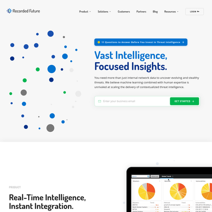 Recorded Future: Threat Intelligence Powered by Machine Learning