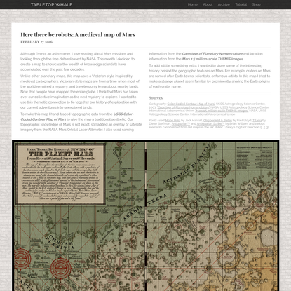 Here there be robots: A medieval map of Mars