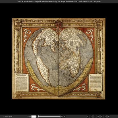 A Modern and Complete Map of the World by the Royal Mathematician Oronce Fine of the Dauphiné - Viewer - World Digital Library