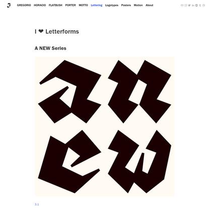 I ❤️ letterforms