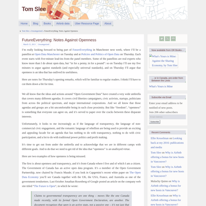 FutureEverything: Notes Against Openness