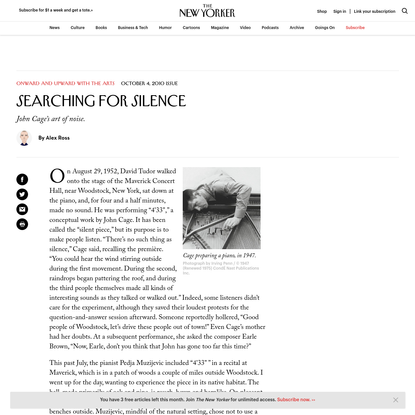 Searching for Silence