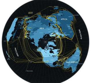 fiber optic cable map (of the Internet) 2012