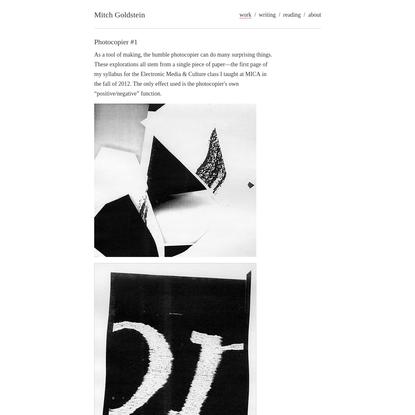 Mitch Goldstein / Work / Photocopier #1