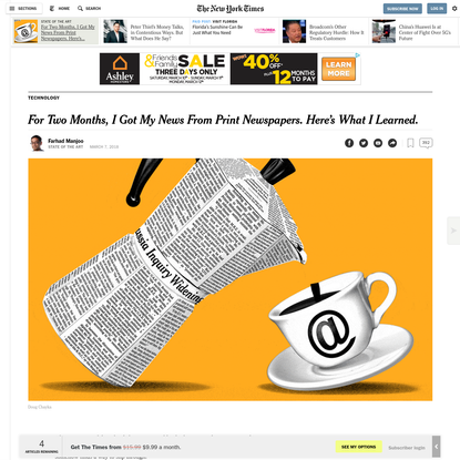 For Two Months, I Got My News From Print Newspapers. Here's What I Learned.