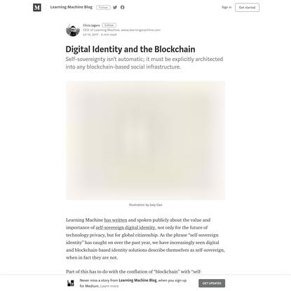 Digital Identity and the Blockchain - Learning Machine Blog - Medium